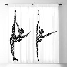 Yoga Pose Blackout Curtain