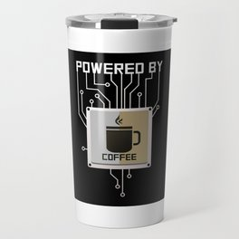 Powered by Coffee Travel Mug