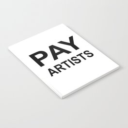PAY ARTISTS Notebook