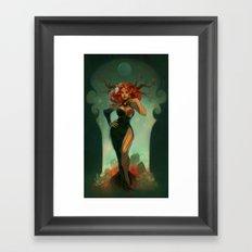 Autumn Wood Nymph Framed Art Print