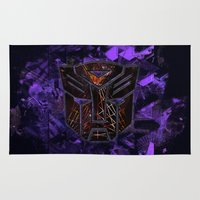 transformers Area & Throw Rugs featuring Autobots Abstractness - Transformers by DesignLawrence