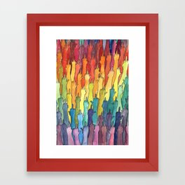 fuck-off in rainbow power Framed Art Print