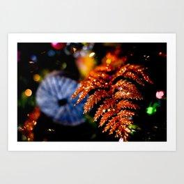 Christmas Leaf Art Print