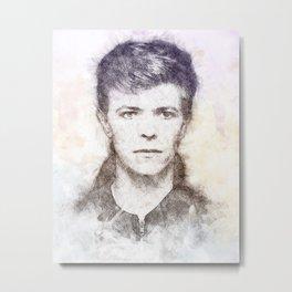 Bowie portrait 01 Metal Print