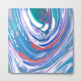 Color Flow Metal Print