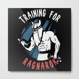Training For Ragnarok Vintage Metal Print