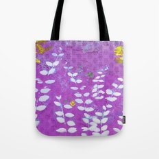 Ferns And Orchid Skies Tote Bag