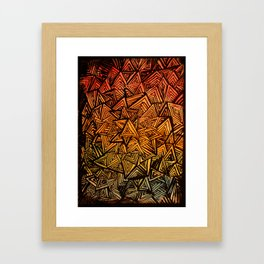 Triangles are for fun. Framed Art Print
