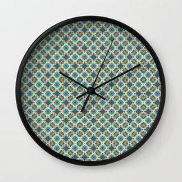 late autumn check 1 Wall Clock