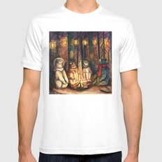 Camp Meeting By Helen Green Mens Fitted Tee White MEDIUM