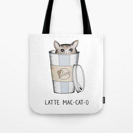 Latte Mac-cat-o Tote Bag