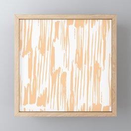Modern Coral Stripes IV Framed Mini Art Print