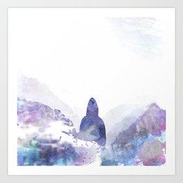 Watercolor Mountainman Art Print