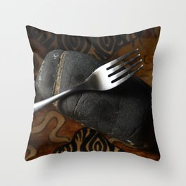 Fork and Stone Throw Pillow