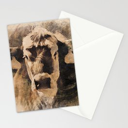 Old West Cow PhotoArt Stationery Cards