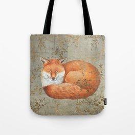 Red fox among thorns Tote Bag
