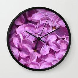 Mauve Lilacs by Teresa Thompson Wall Clock