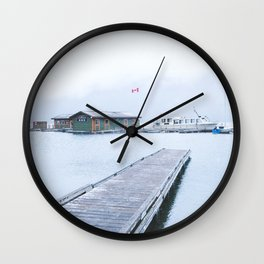 345. Minnewanka Boat House, Banff, Canada Wall Clock