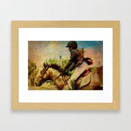 Girl Equestrian  Framed Art Print