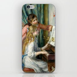 "Auguste Renoir ""Two Young Girls at the Piano"" iPhone Skin"