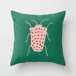 Beetle green Throw Pillow
