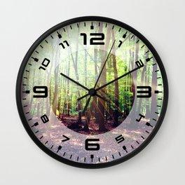Forest lights Wall Clock