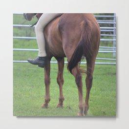 Horse and Rider Bareback Metal Print