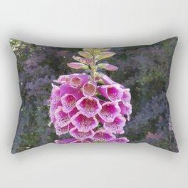 Gloves in summer!  Foxglove, Digitalis purpurea Rectangular Pillow