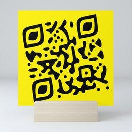 QR Clothes Yellow Mini Art Print