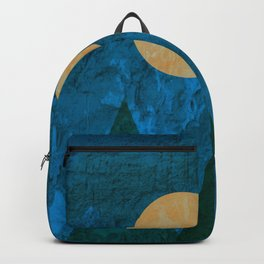 Ancestral, Abstract Landscape Mountains Backpack