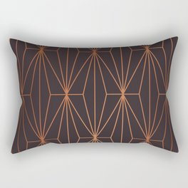 ELEGANT BLACK BEAN COPPER PATTERN Rectangular Pillow
