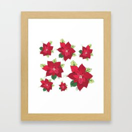 Christmas Poinsettia Framed Art Print