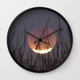 Super Blood Moon Eclipse 2018 Wall Clock