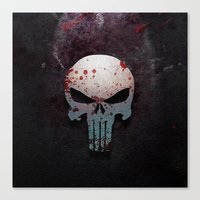 punisher Canvas Prints featuring Punisher Skull  by Electra