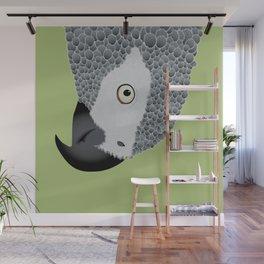 African Grey Parrot [ON MOSS GREEN] Wall Mural