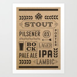 Type beer Art Print