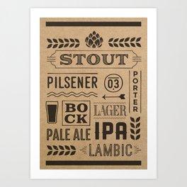 Type beer Art Print