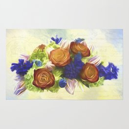 A Beautiful Life - Vintage Flower Art Rug