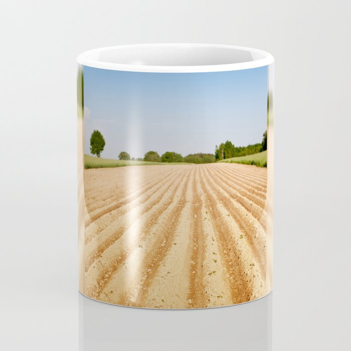 Ploughed agriculture field empty Coffee Mug