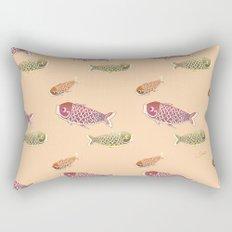 Koi Green Rectangular Pillow