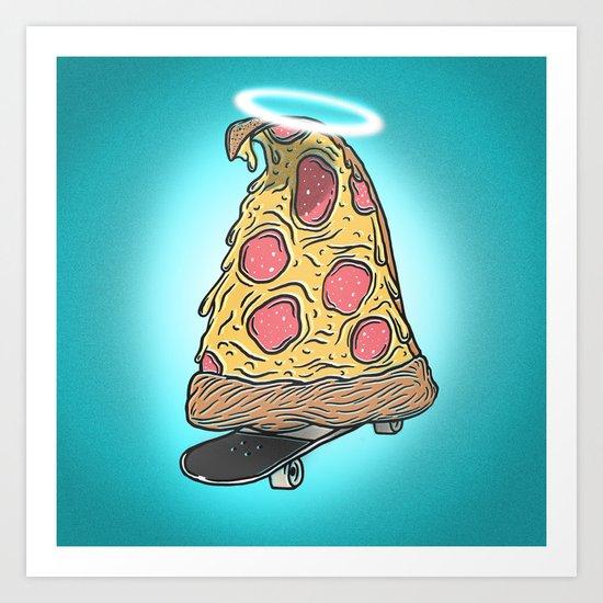 St. Pizza Shreds Art Print