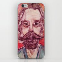grateful dead iPhone & iPod Skins featuring Bob Weir Watercolor Portrait Grateful Dead by Acorn