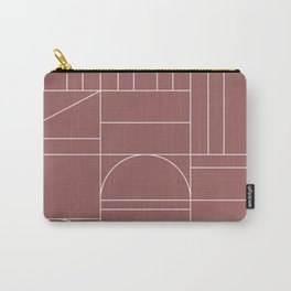 Deco Geometric 04 Dark Pink Carry-All Pouch