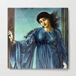 "Edward Burne-Jones ""Night"" Metal Print"