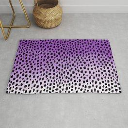Ombre Dalmatian Spots (purple/black) Rug