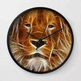 Lion Portrait Art Wall Clock