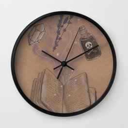 Witches Grimoire Wall Clock