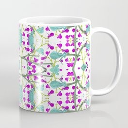Colorful Modern Floral Pattern Coffee Mug