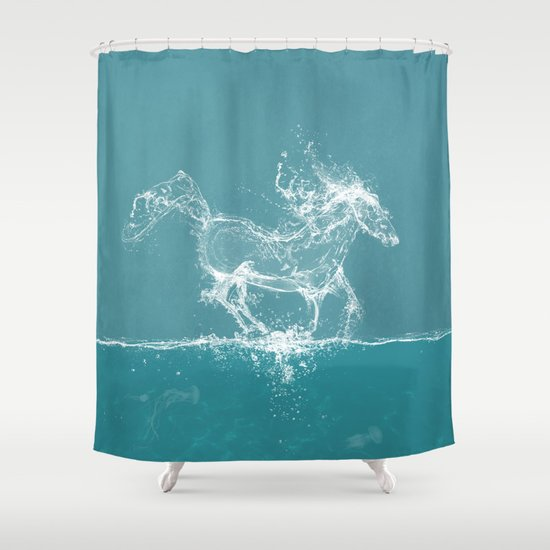 The Water Horse Shower Curtain