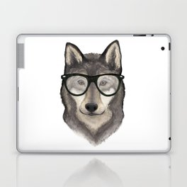 Hipster Wolf Laptop & iPad Skin